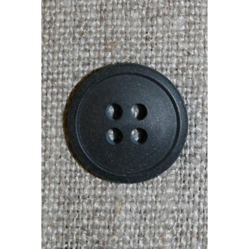 4-huls knap koksgrå, 15 mm.