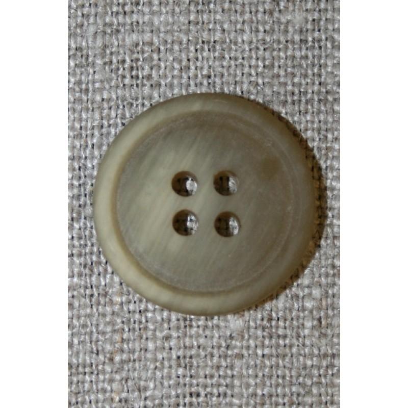 4-huls knap meleret beige/kit, 20 mm.-33