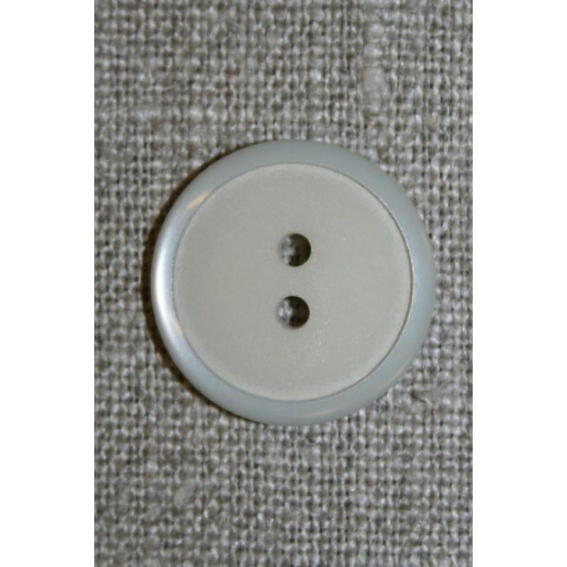 2-huls knap lysegrå, 20 mm.-33