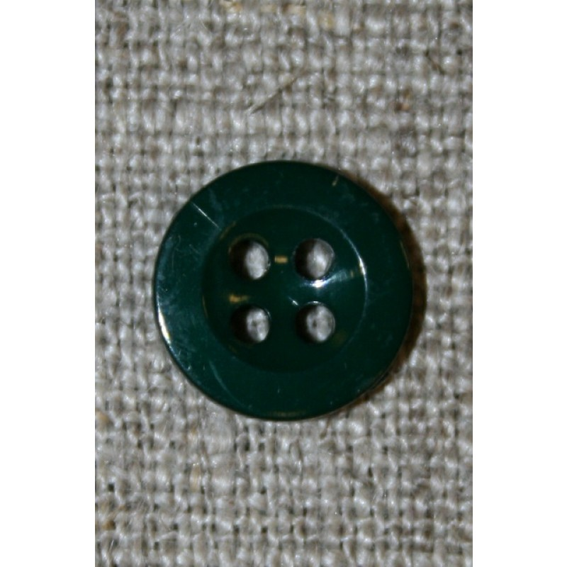 Lille flaskegrøn 4-huls knap 11 mm.-35