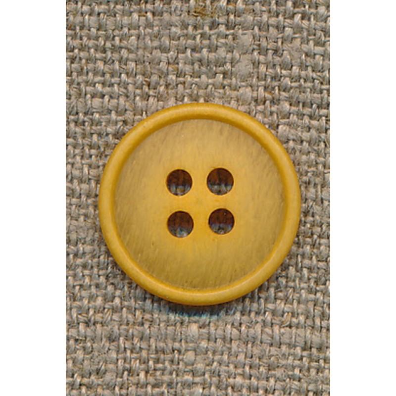 4-huls knap meleret carry gul, 18 mm.-33