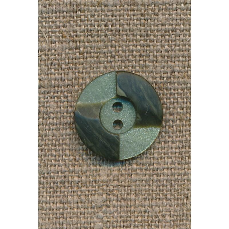 2-farvet knap lysegrøn/army, 18 mm.-31