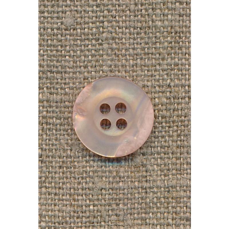 4-huls knap krakeleret lys laks/pudder, 15 mm.-35