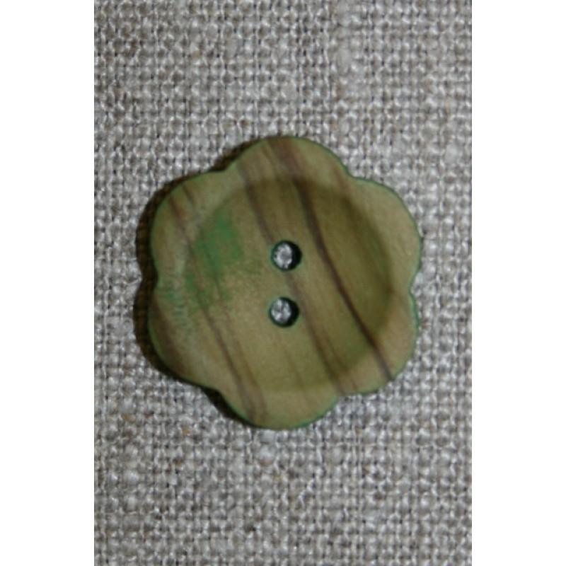 Blomsterknap træ i oliven 23 mm.-33