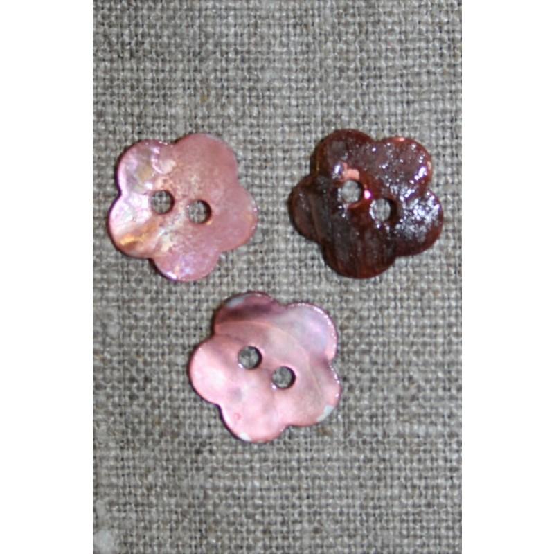 Perlemors-knap blomst, 15 mm. lys rosa