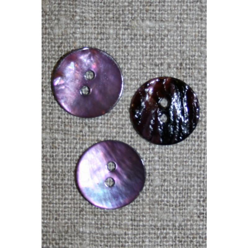 Perlemors-knap lys lilla 15 mm.-33