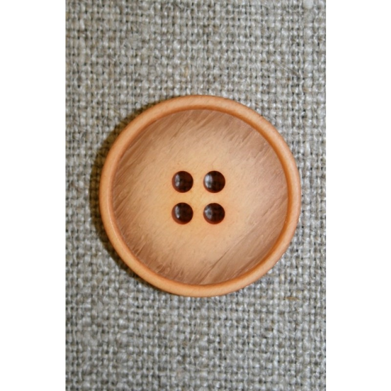 Meleret knap laks/lys orange, 22 mm.