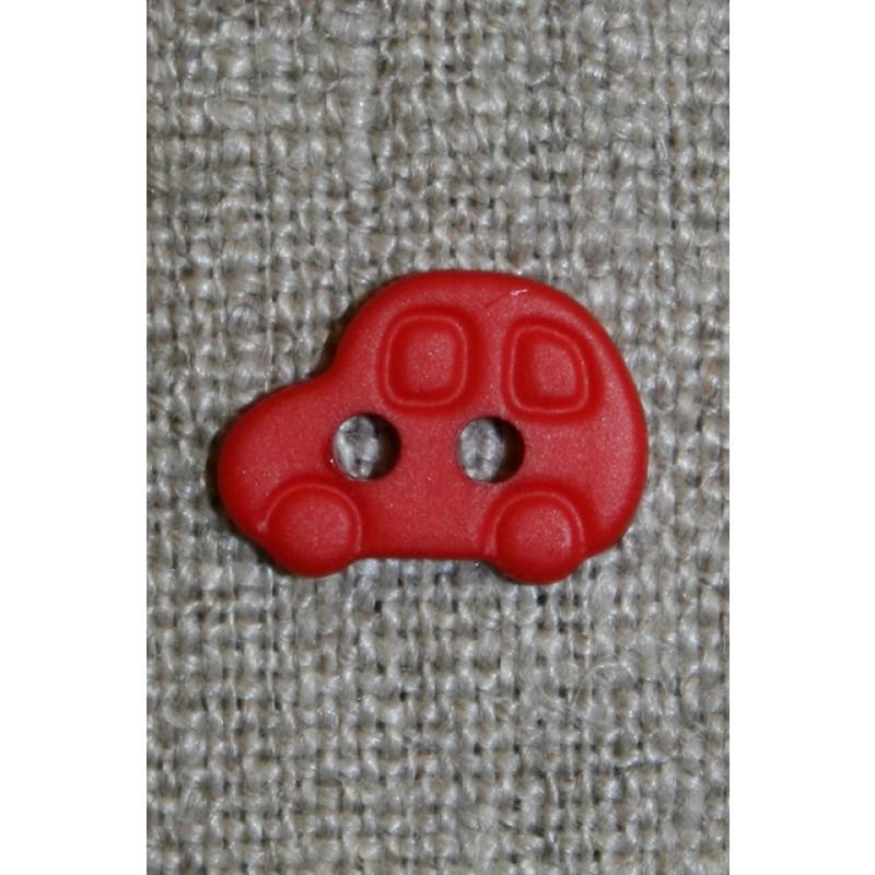 2-huls knap m/bil, rød-33