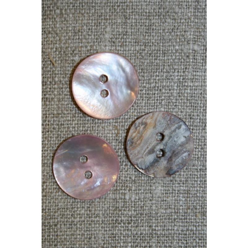 Perlemors-knap lys rosa 18 mm.