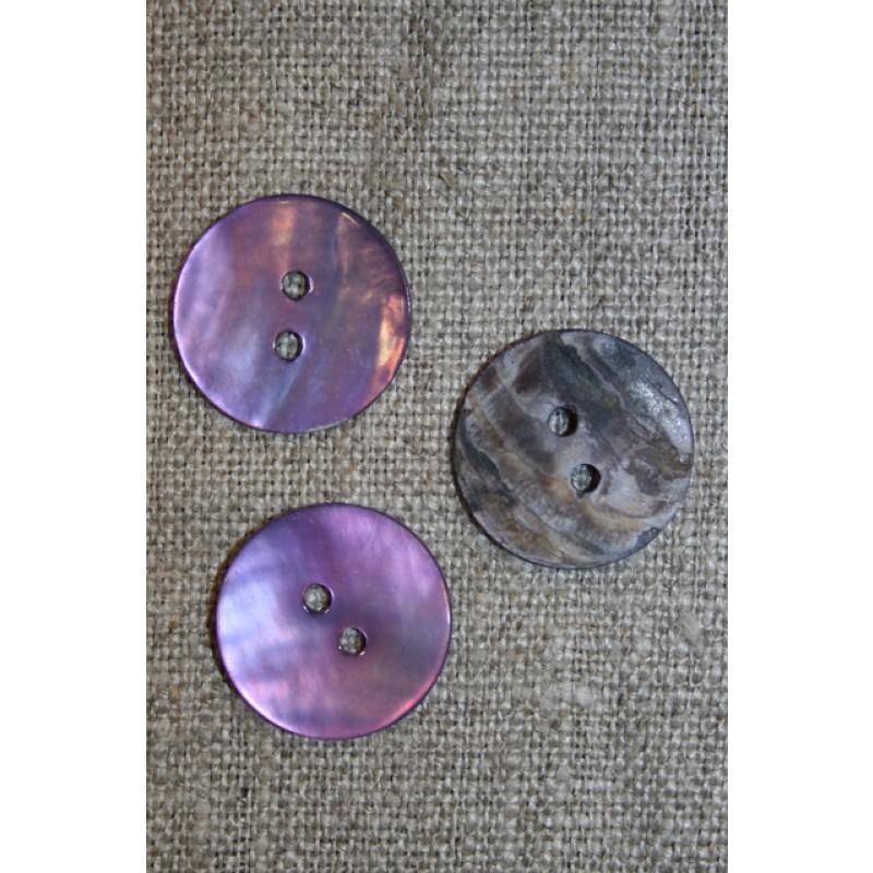 Perlemors-knap lys lilla 18 mm.-31