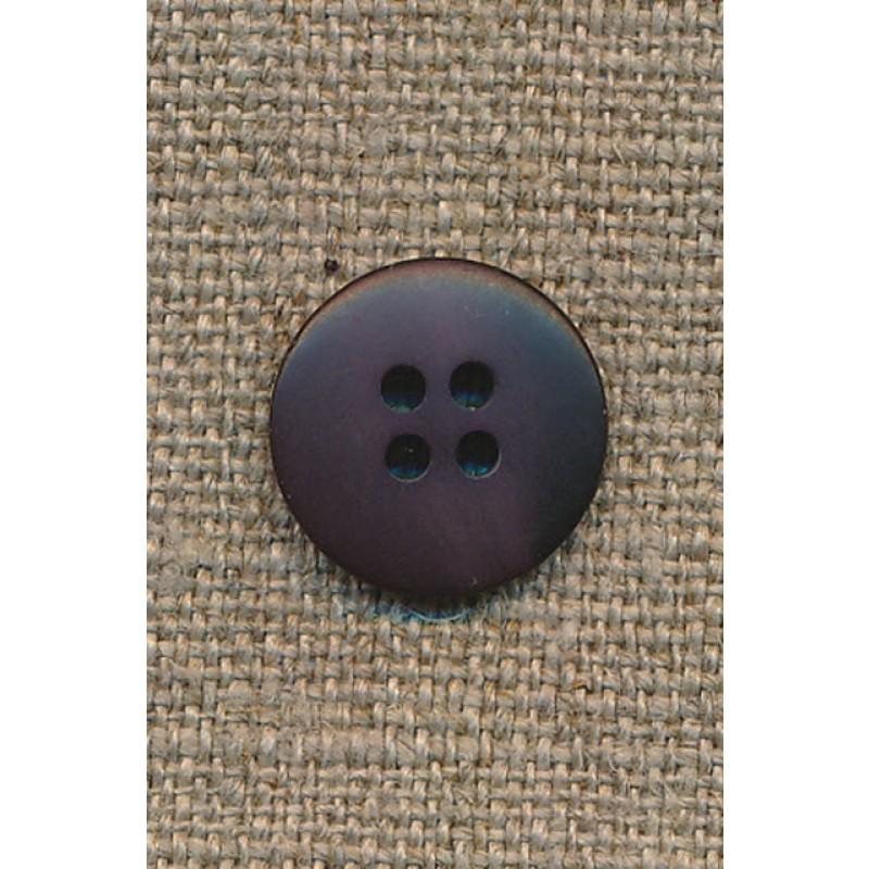 4-huls knap meleret aubergine, 15 mm.-35