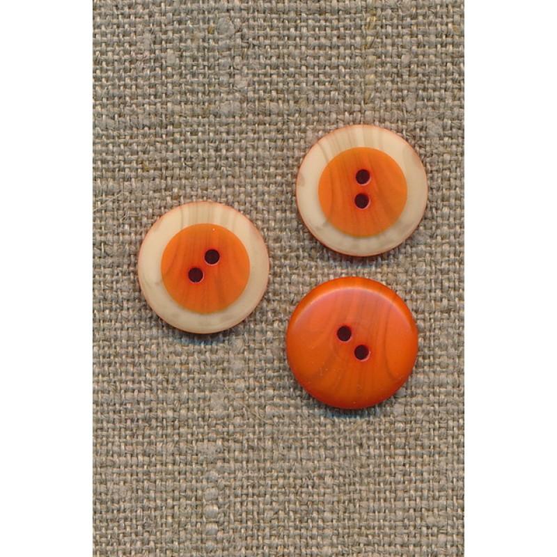 2-huls knap m/træ-look kant, orange-31