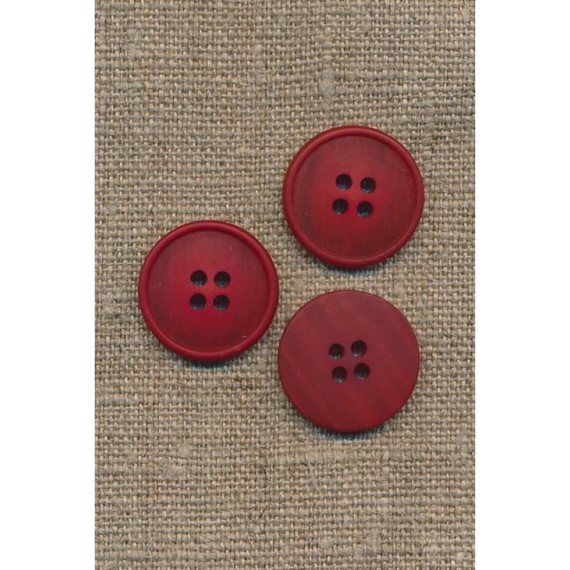 4-huls knap meleret rød 20 mm.-33