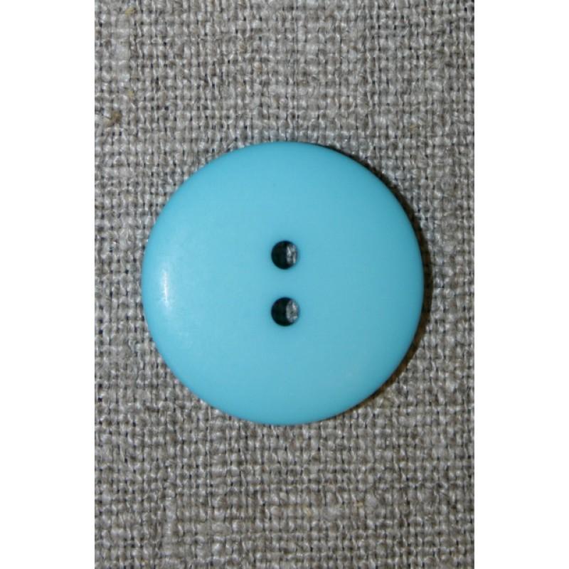 2-huls knap lys turkis, 23 mm.-31
