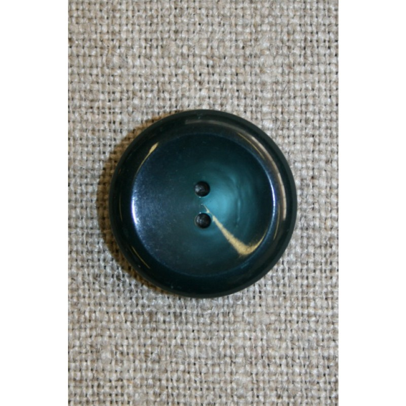 2-huls knap petrol/flaskegrøn, 20 mm.-31