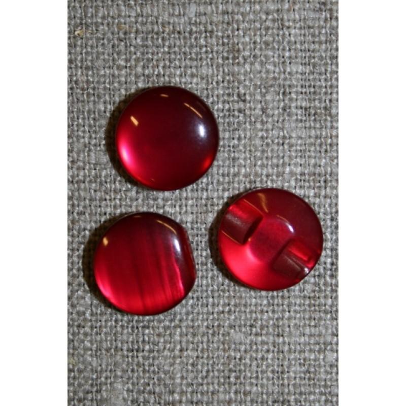 Rund blank knap 12 mm. rød-31