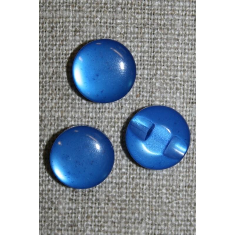 Rund blank knap 12 mm. blå-31