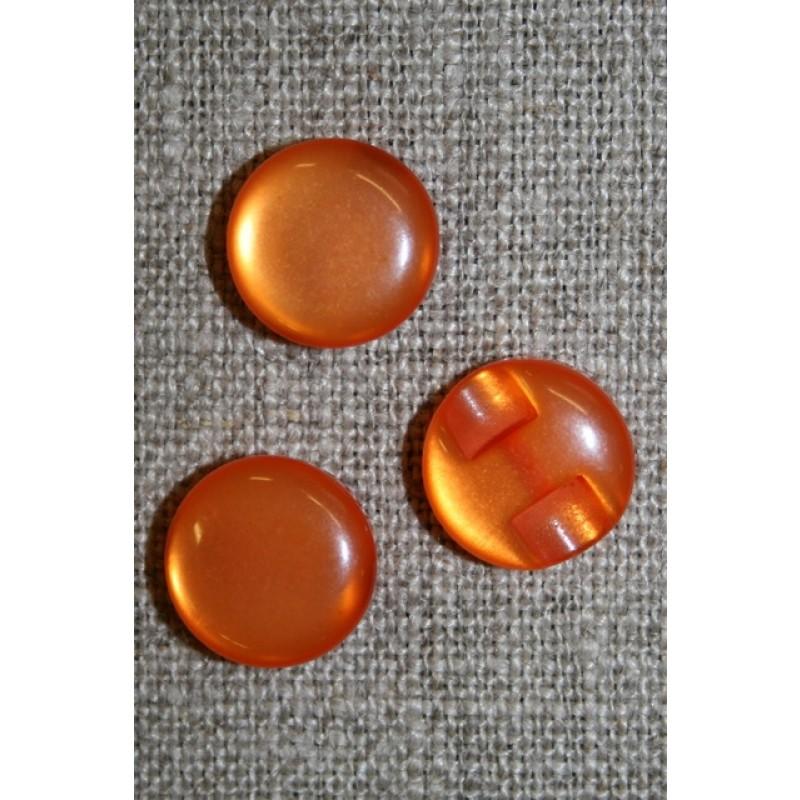 Rund blank knap 12 mm. orange-31
