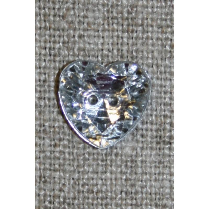 Simili hjerte knap 12 mm.-31