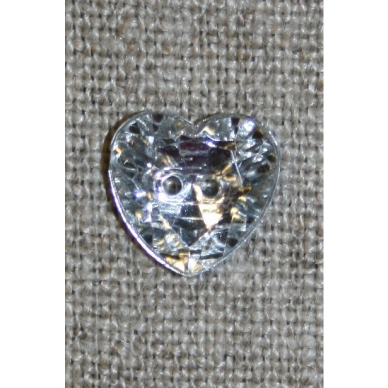 Simili hjerte knap 12 mm.