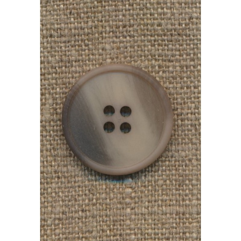 Meleret knap i grå-brun, kit og lysegrå