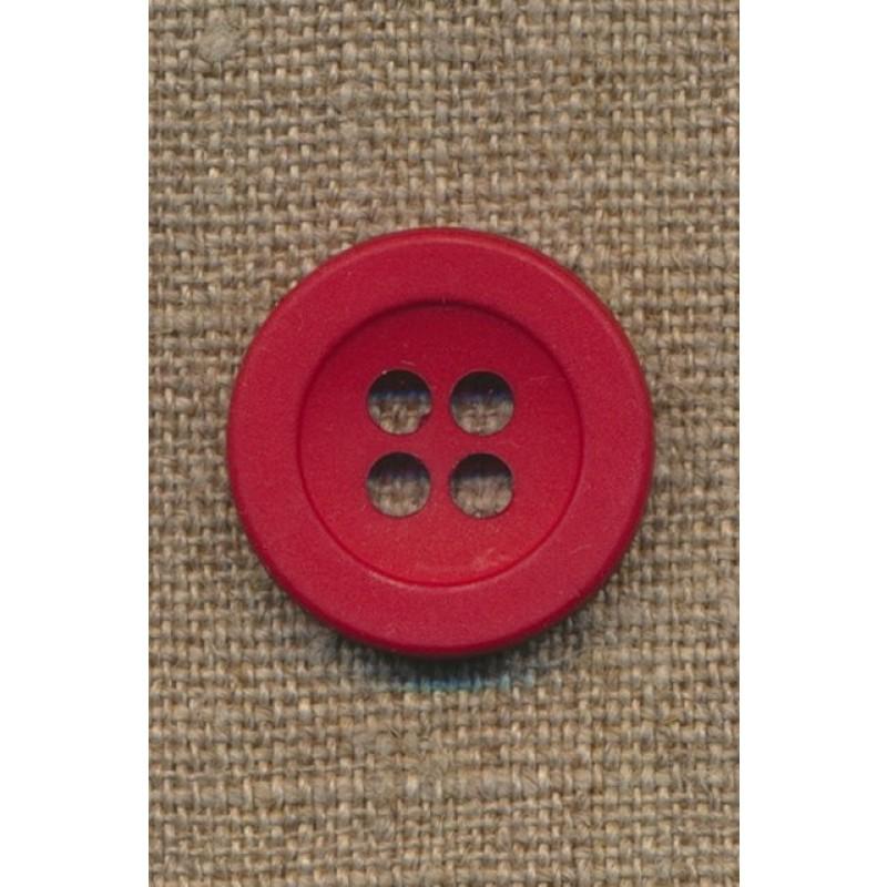 4-huls knap rød 22 mm.-31