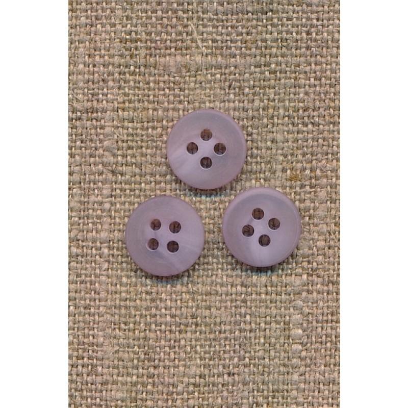 4-huls knap lyselilla meleret, 11 mm.-36