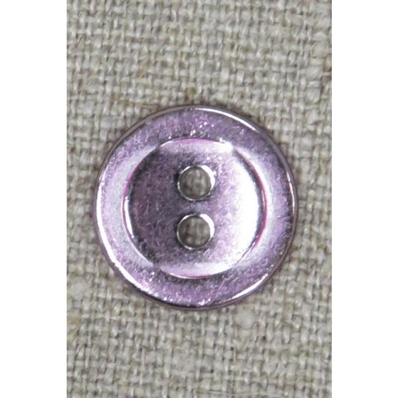 2-huls knap i metal i rosa