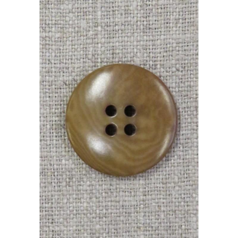 4-huls knap lys okker meleret 25 mm.-37