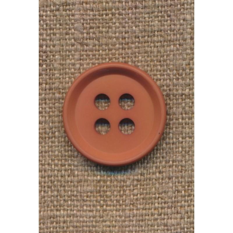 4-huls knap i rød-brun 23 mm.-38
