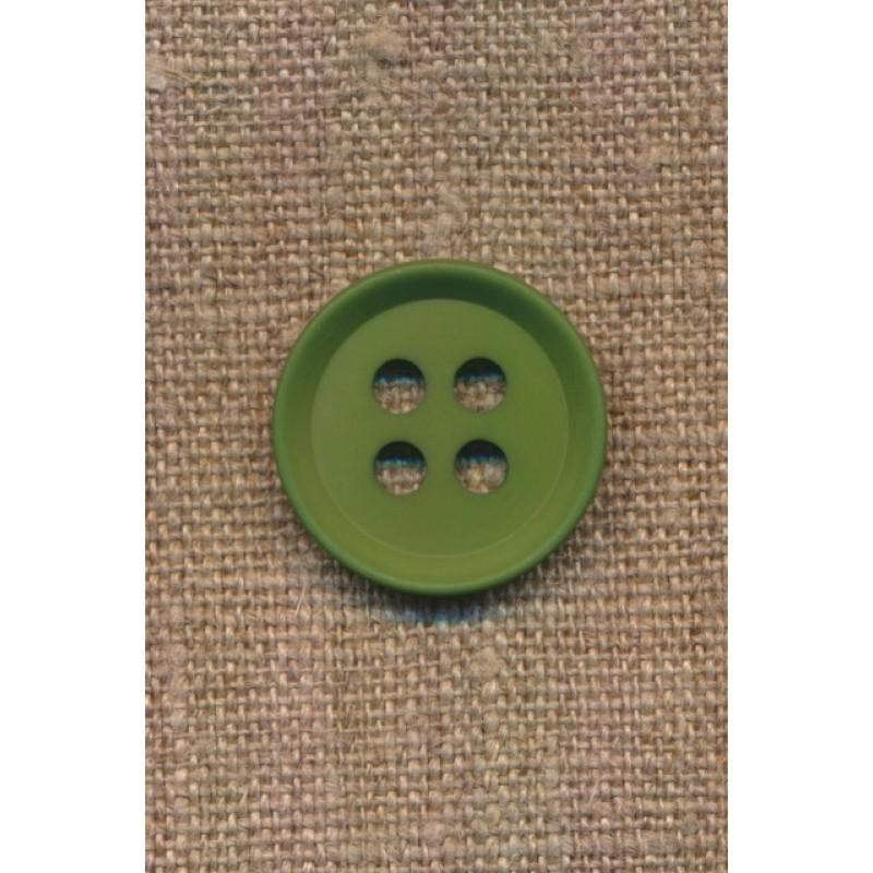 4-huls knap i grøn 15 mm.-37