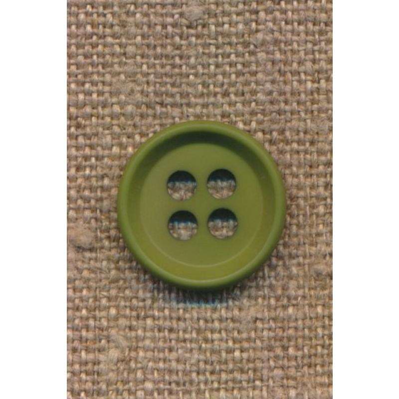 4-huls knap i grøn 18 mm.-38