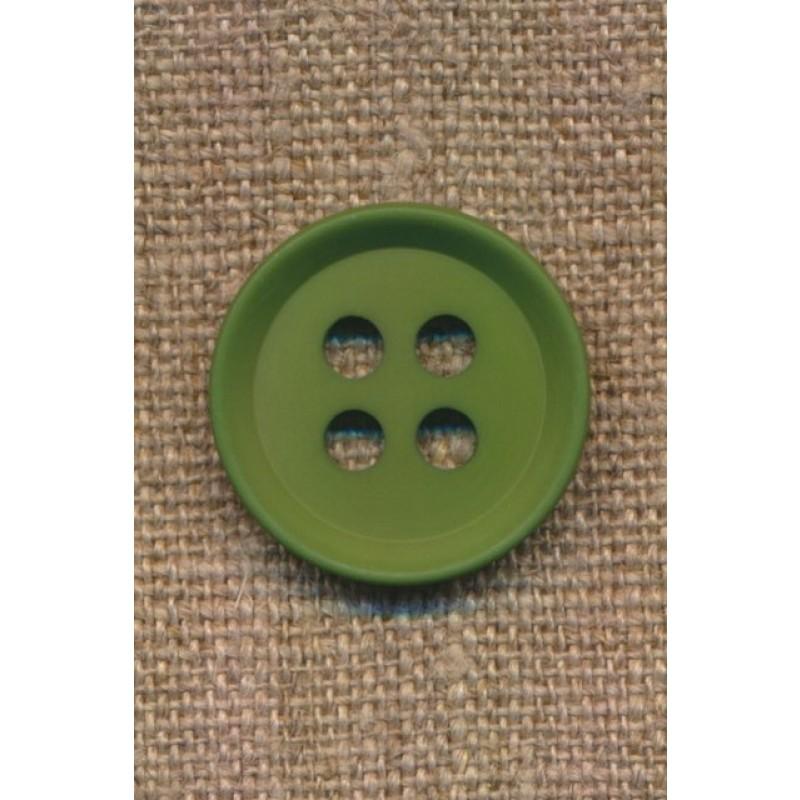 4-huls knap i grøn 23 mm.-39