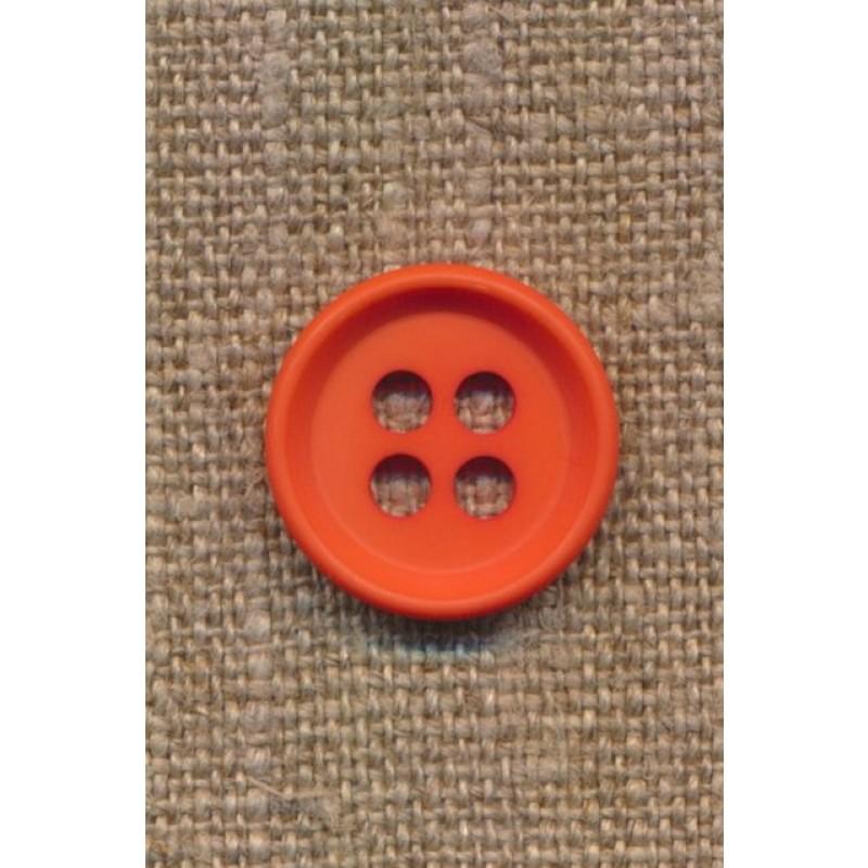 4-huls knap i orange 18 mm.-39