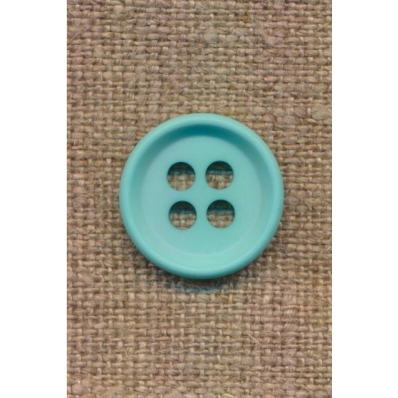 4-huls knap i aqua 18 mm.-310