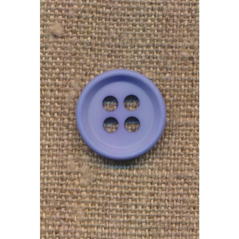 4-huls knap i lys blå 18 mm.-311