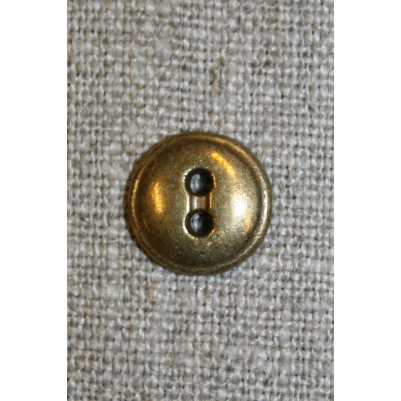 Lille 2-huls metal knap, gl.guld-31