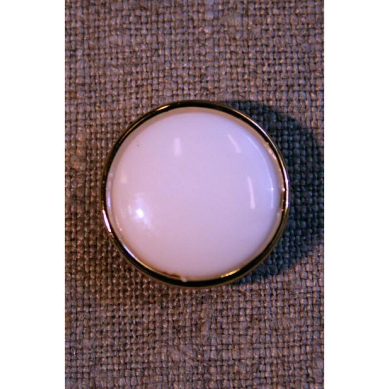 Knækket hvid m/guld kant-31