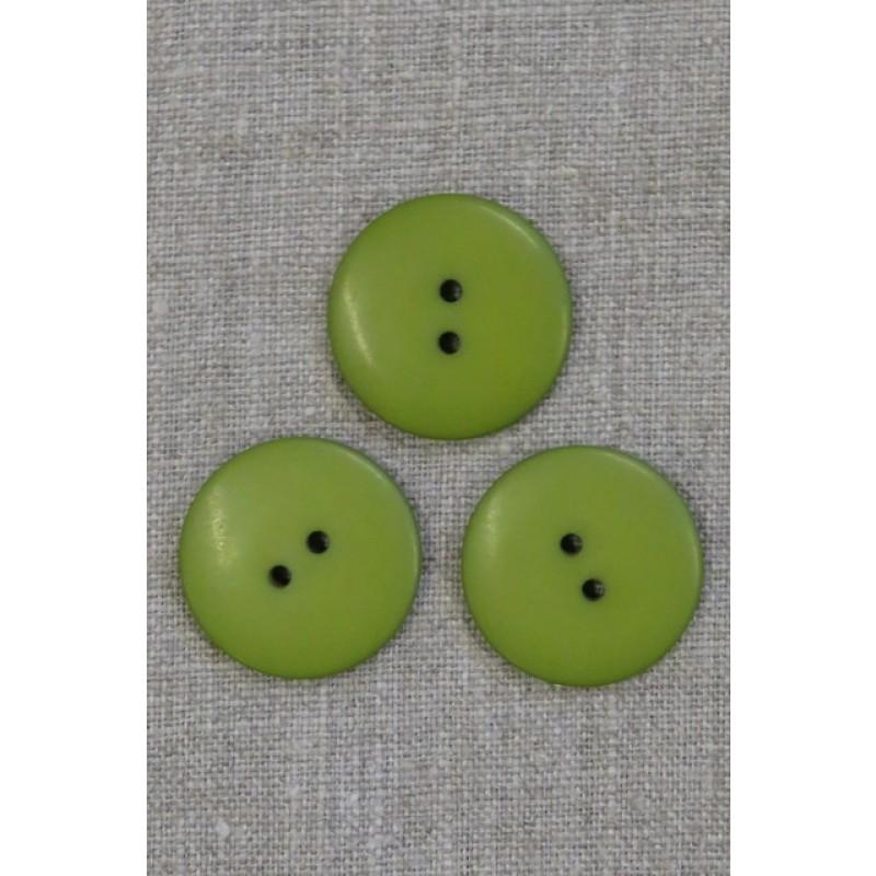 2-huls knap i lime-grøn 28 mm.