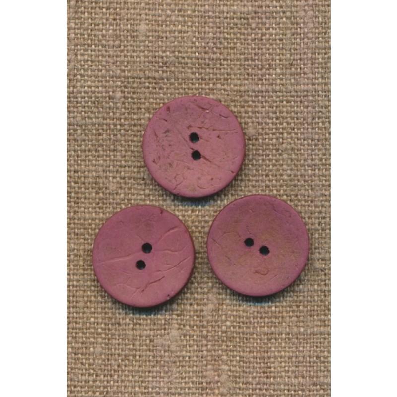 Kokos knap i mørk rosa 20 mm.-36