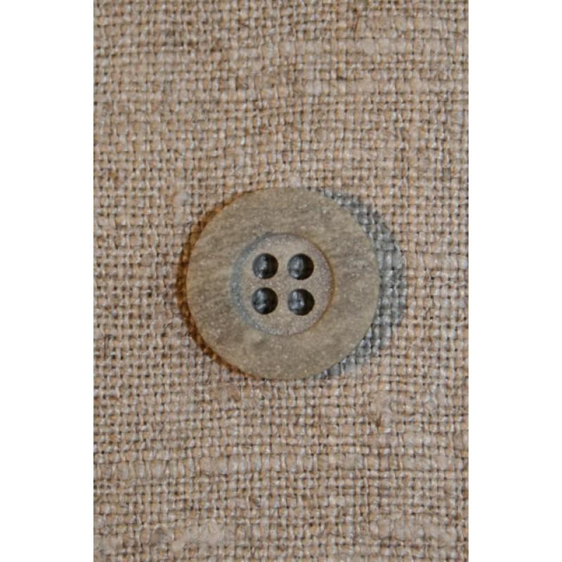 Granitgrå 4-huls knap 15 mm.-33