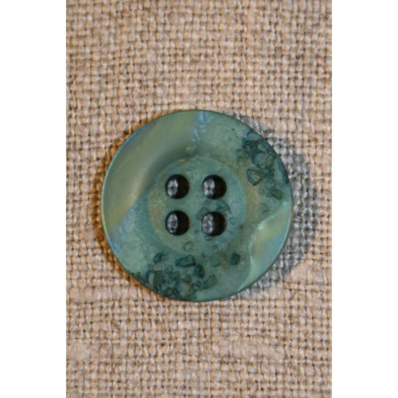 Grøn/mint krakeleret knap, 18 mm.-31