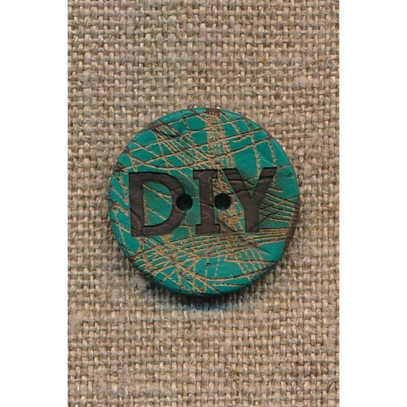 Kokos knap i irgrøn DIY 23 mm.-39