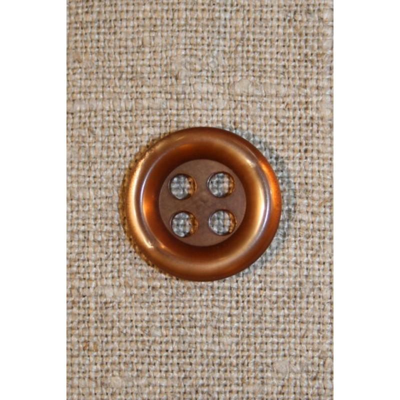 Gylden 4-huls knap, 16 mm