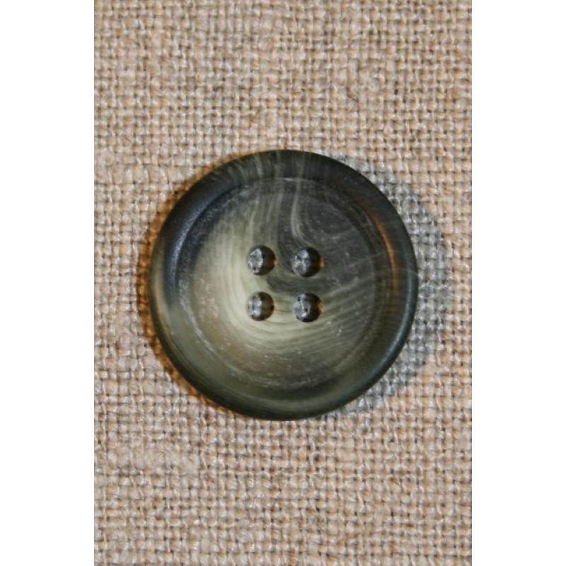 Grå/grøn 4-huls knap 20 mm-33