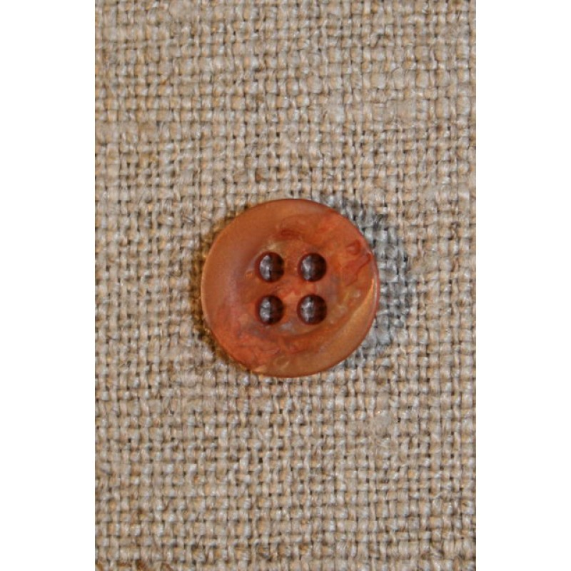 Orange/gylden krakeleret knap 11 mm.-33