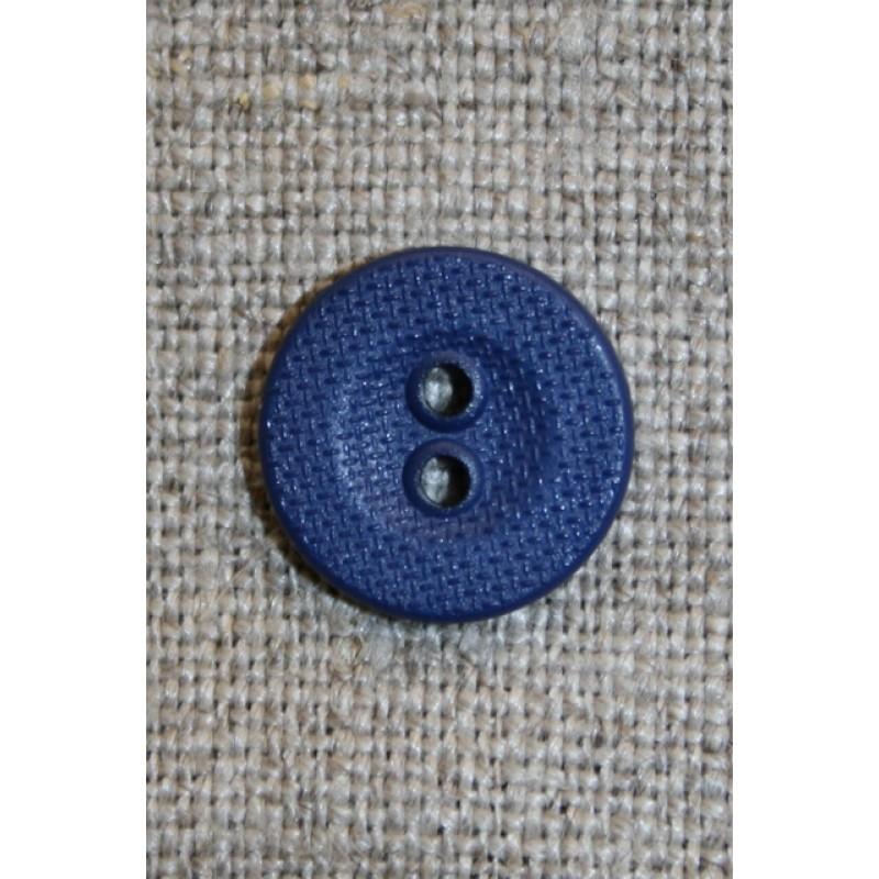 Ru 2-huls knap mørkeblå, 13 mm.-33
