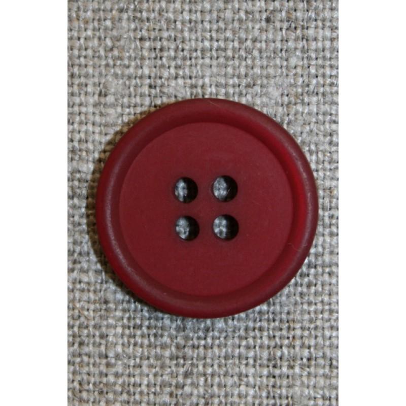 Mørk rød 4-huls knap, 20 mm.-31