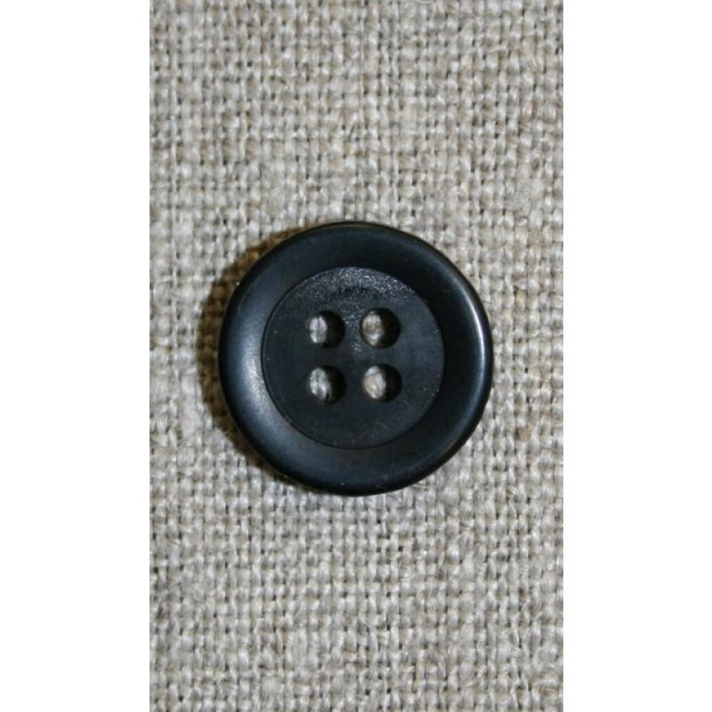 Sort 4-huls knap, 15 mm-31