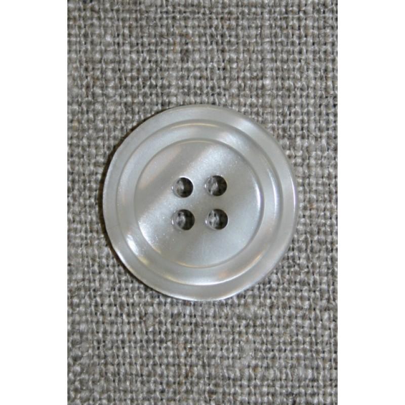 4-huls knap m/cirkel, lysegrå-31